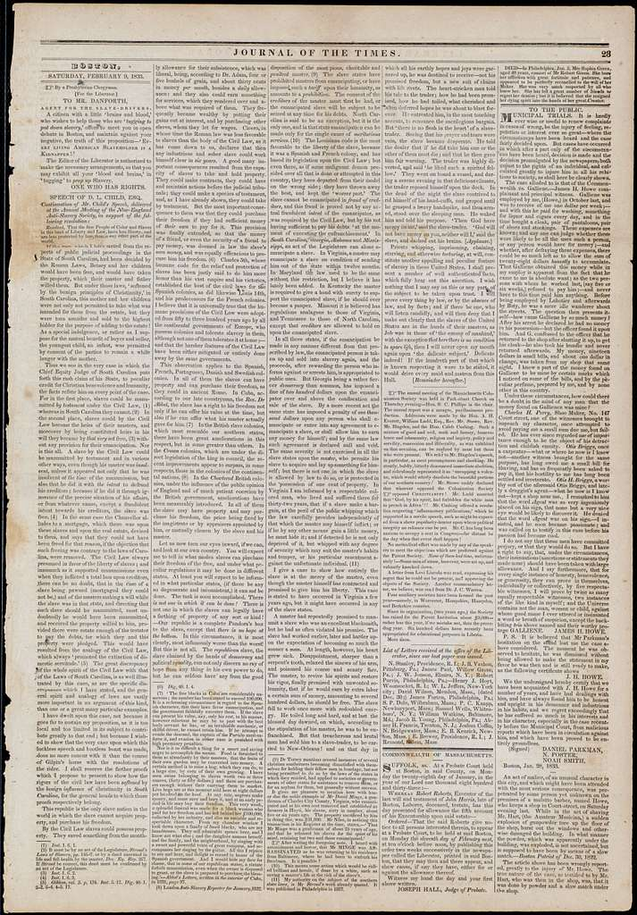 The liberator. v.3:no.6(1833:Feb.9)