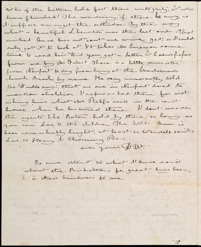Letter from Deborah Weston, New Bedford, [Mass.], to Maria Weston Chapman, Sunday night, [1839?]