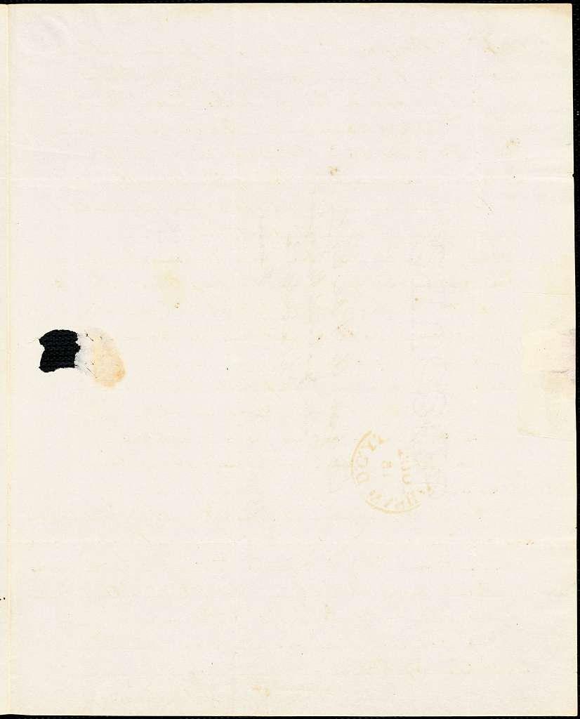 Frederick William Thomas, Washington, DC., autograph letter signed to Edgar Allan Poe, 14 October 1841