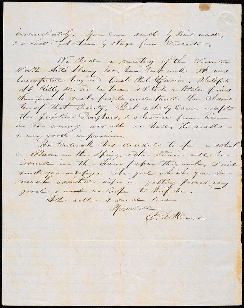 Letter from E. D. Moore, Barre, to Amos Augustus Phelps, Jan 10. 1842