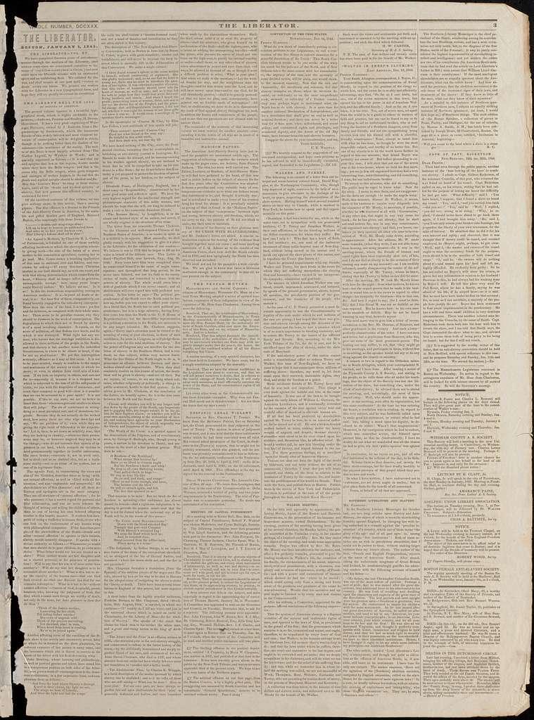 The liberator. v.15:no.1(1845:Jan.3)
