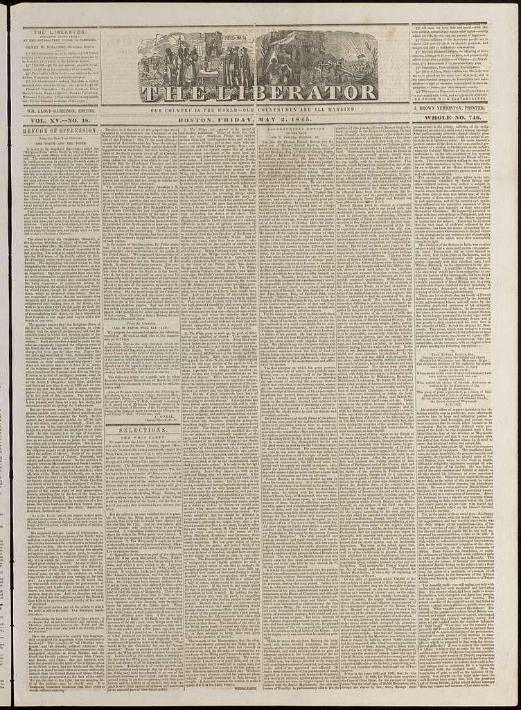 The liberator. v.15:no.18(1845:May 2)