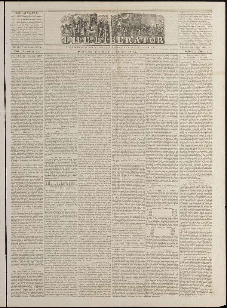 The liberator. v.15:no.21(1845:May 23)