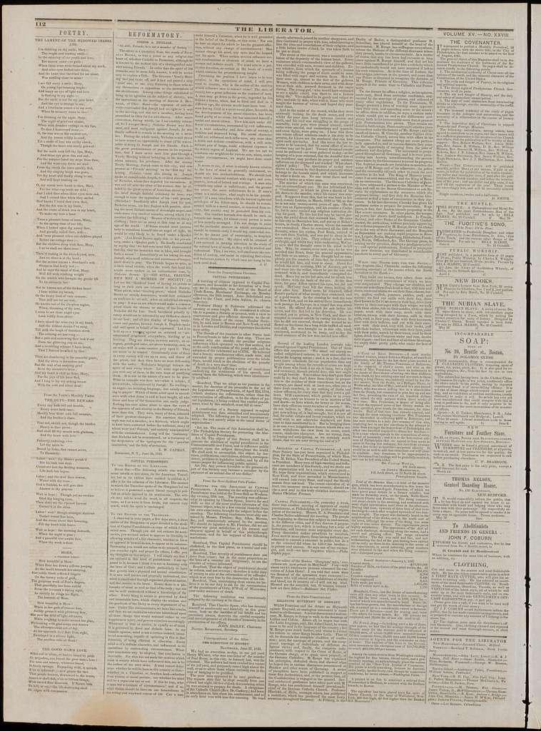 The liberator. v.15:no.28(1845:July 11)
