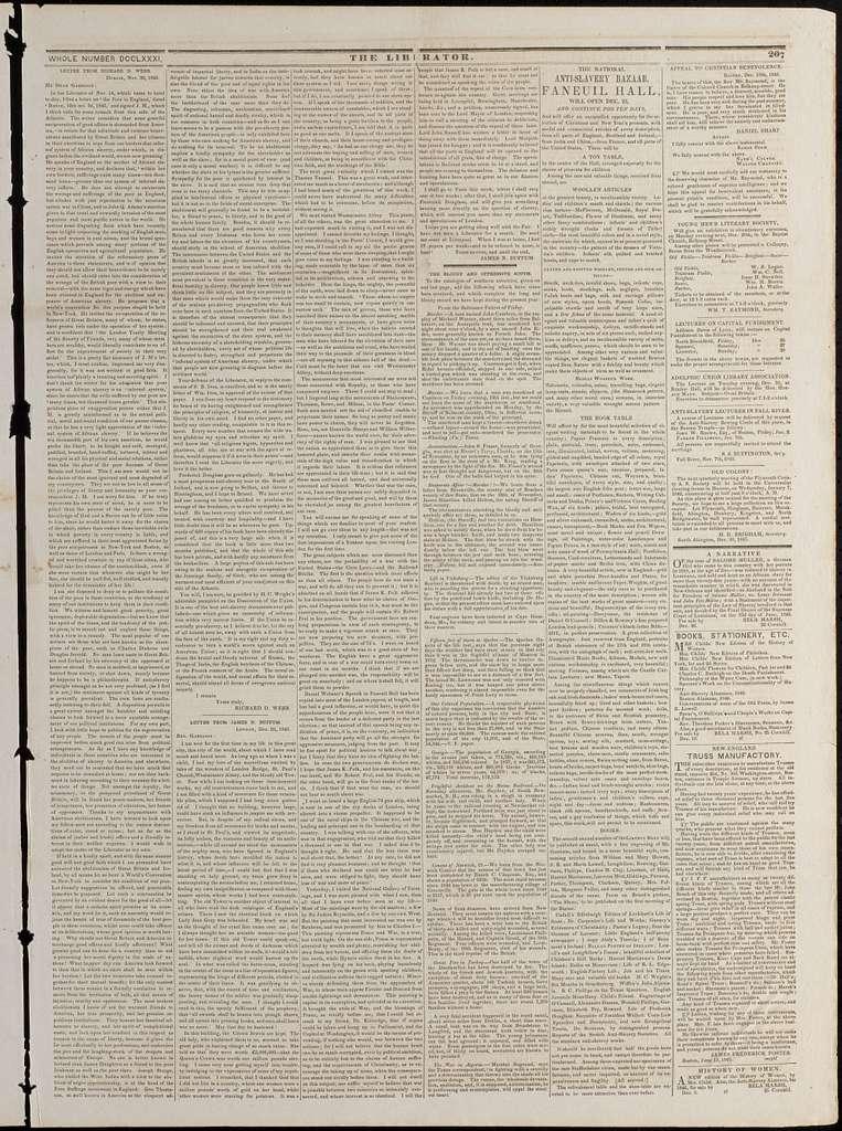 The liberator. v.15:no.52(1845:Dec.26)