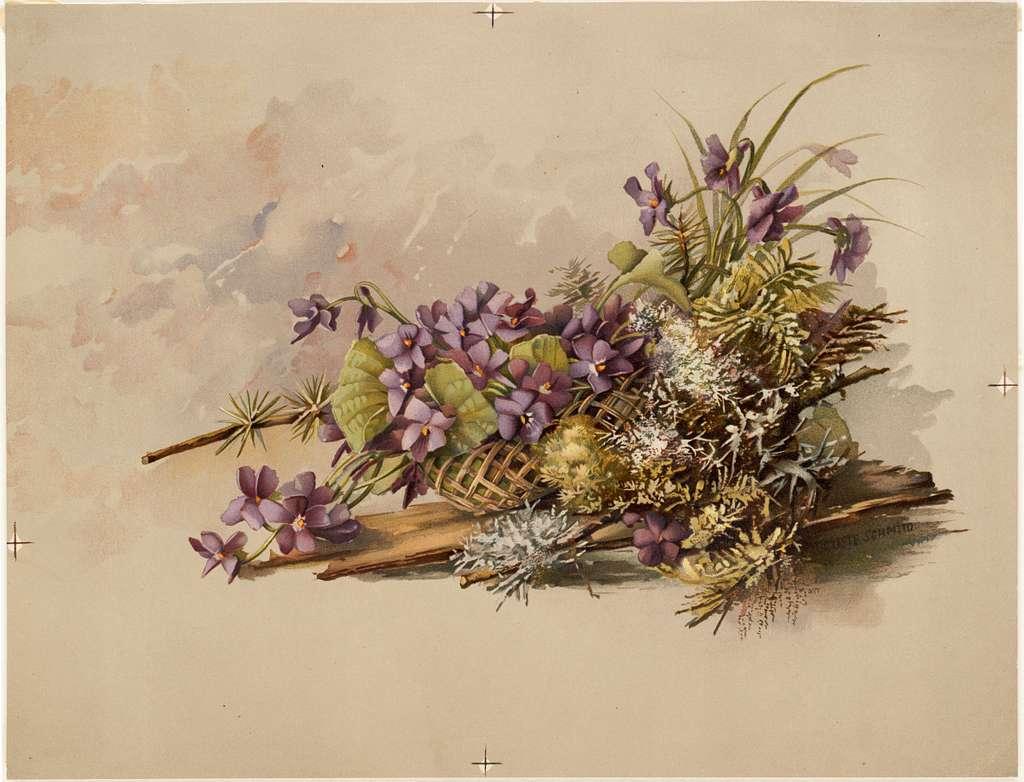Floral Arrangement with Violets