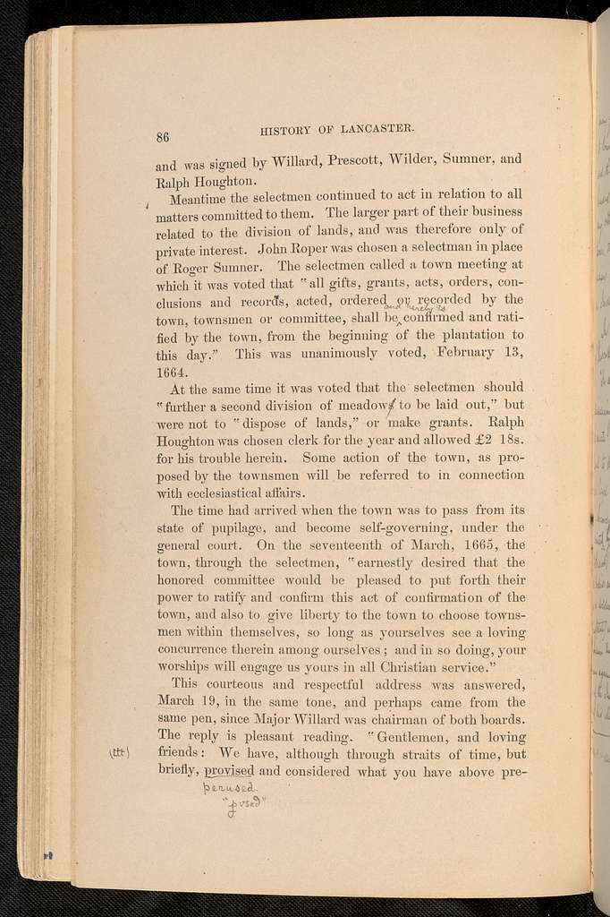 History of the Town of Lancaster, Massachusetts : From the first settlement to the present time, 1634-1879. Volume 1