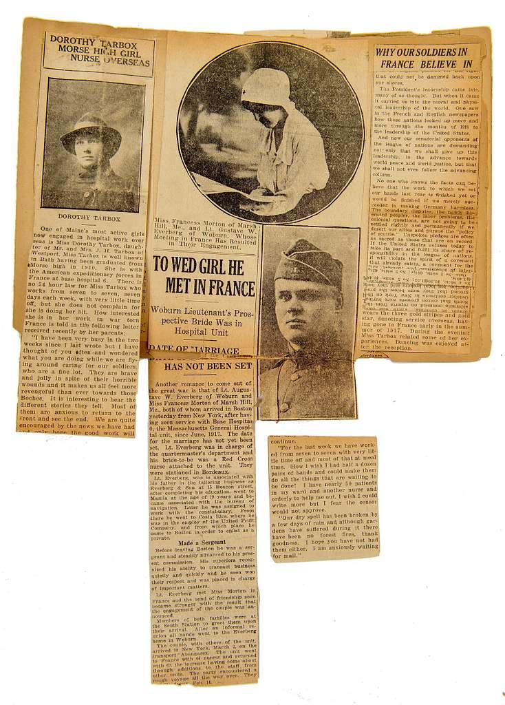 Scrapbook of Dorothy Tarbox, RN, World War I