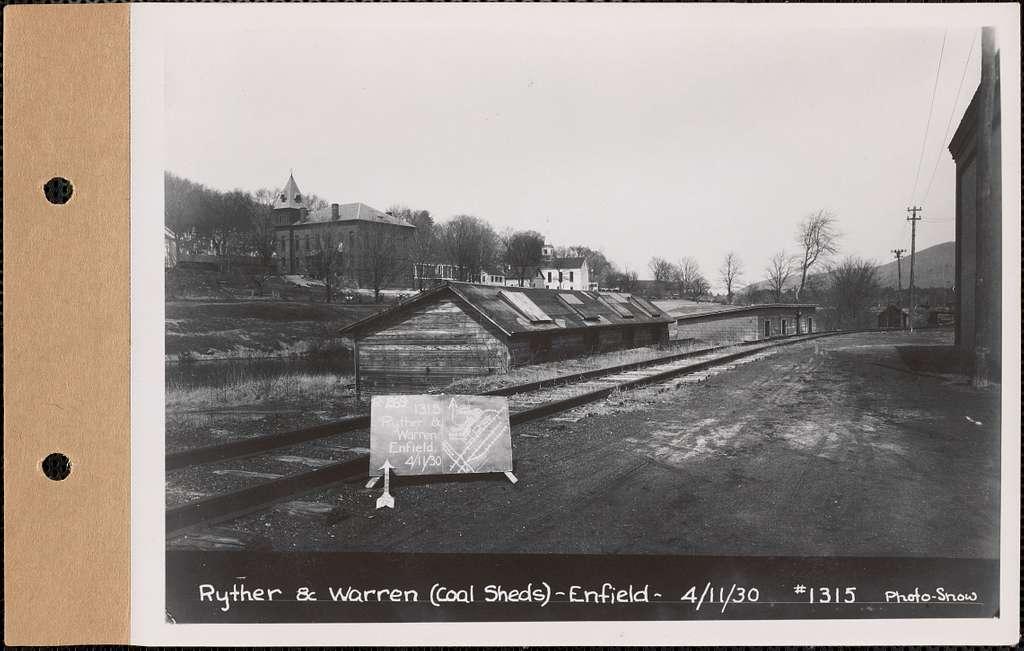 Harry L. Ryther and Linus G. Warren, coal sheds, Enfield, Mass., Apr. 11, 1930 : Parcel no. 269-34, Harry L. Ryther and Linus G. Warren